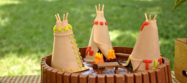 Outdoor Adventure Party with Lots of REALLY CUTE IDEAS via Kara's Party Ideas | Cake, decor, cupcakes, games and more! KarasPartyIdeas.com #outdoorparty #campingparty #boyparty #partyplanning #partystyling #partydecor #partyideas (2)