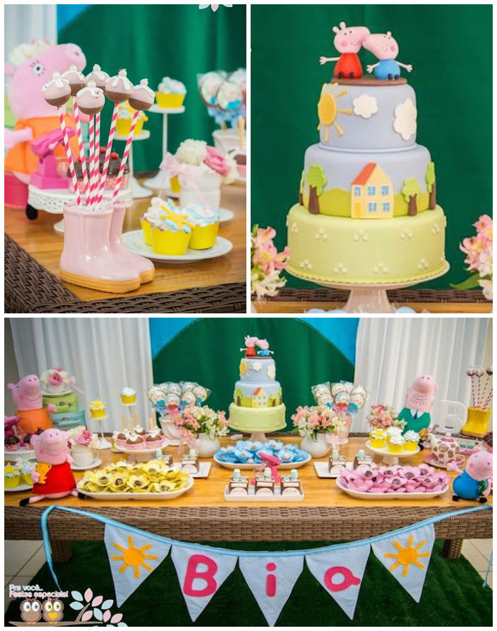 Kara S Party Ideas Peppa Pig Themed Birthday Party With