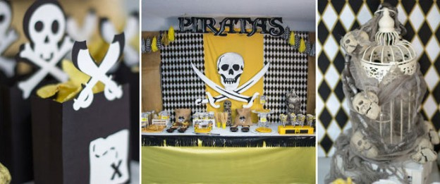 Pirate themed birthday party with Lots of Cute Ideas via Kara's Party Ideas KarasPartyIdeas.com #pirateparty #piratepartyideas #partydecor (1)