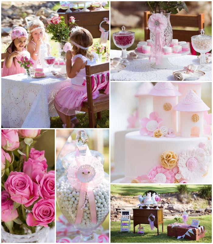 Kara S Party Ideas Vintage Princess Themed Birthday Tea