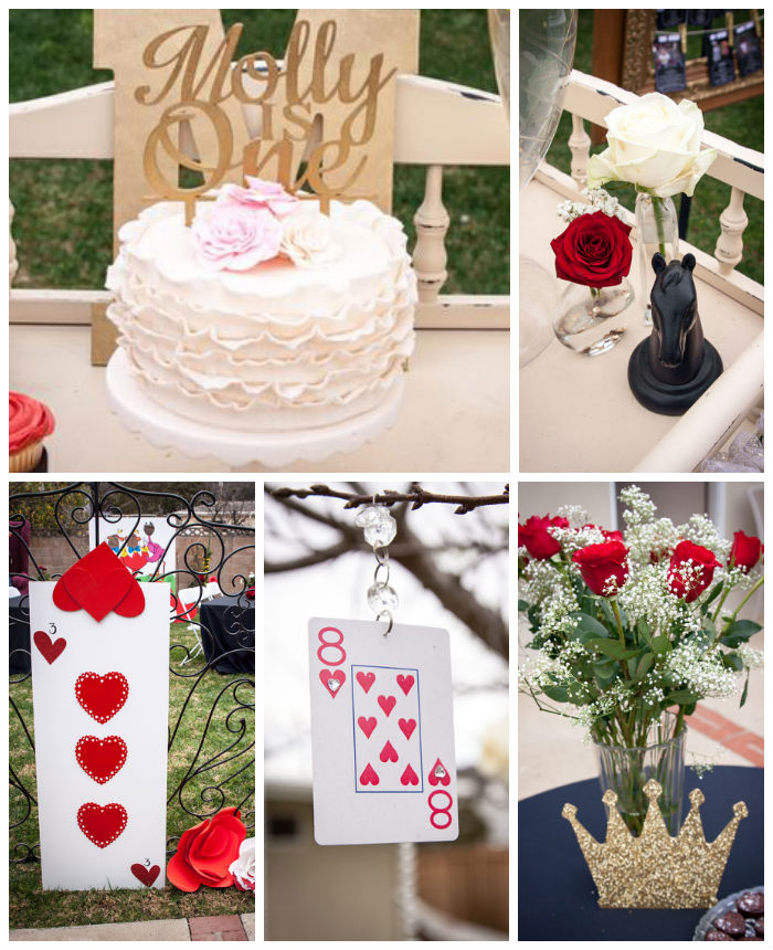 Karas Party Ideas Queen of Hearts 1st birthday party via