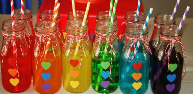 Rainbow themed birthday party via kara's party ideas! full of decorating ideas, dessert, cake, cupcakes, favors and more! KarasPartyIdeas.com #rainbows #rainbowparty #rainbowcake #partyplanning #partyideas #eventstylign #partystyling #partyideas (2)