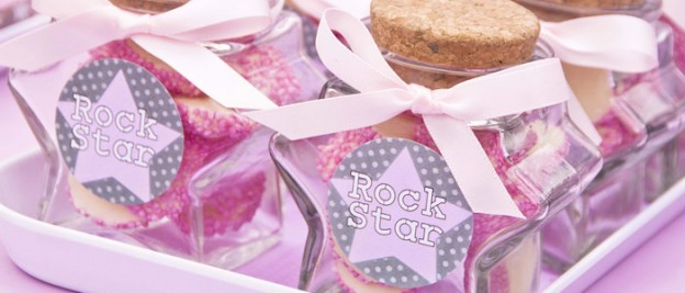 Pink Rockstar themed birthday party with So Many Really Fun Ideas via Kara's Party Ideas | Cake, decor, cupcakes, games and more! KarasPartyIdeas.com #rockstarparty #rockstar #girlyrockstarparty #pinkrockstarparty #partyideas #partydecor (2)