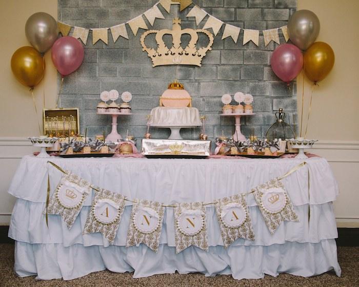 Kara 39 s party ideas royal 60th birthday celebration with - Decoraciones fiestas de cumpleanos ...