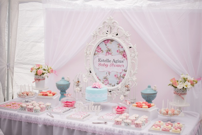 party ideas shabby chic floral baby shower with lots of darling ideas