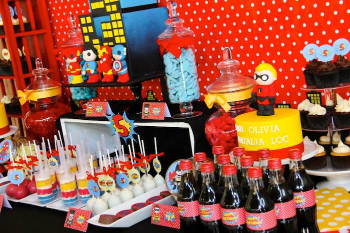 Superhero Themed Birthday Party With Such Cute Ideas Via Karas Full Of Decorating
