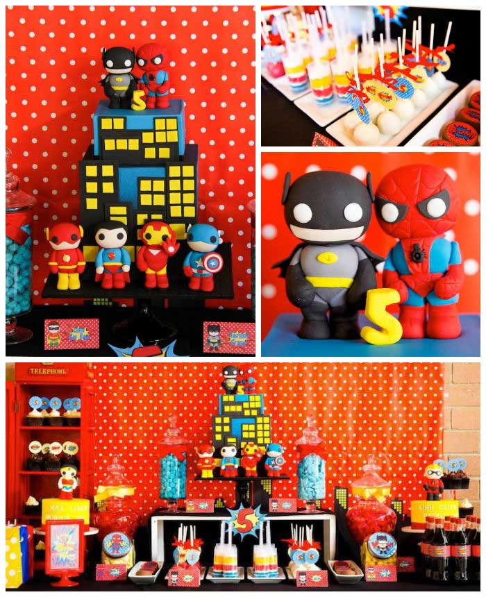 Kara's Party Ideas » Superhero Themed Birthday Party Via
