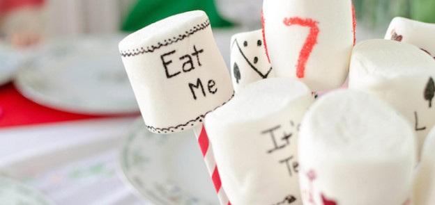 Alice in Wonderland Tea Party with Lots of Fabulous Ideas via Kara's Party Ideas | Cake, decor, cupcakes, games and more! KarasPartyIdeas.com #aliceinwonderlandparty #aliceinwonderland #madhatter #partyideas #partydecor (26)