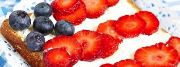 Patriotic Toast Recipe via Kara Allen | Kara's Party Ideas | KarasPartyIdeas.com Great for the 4th of July, Memorial Day, Labor Day and More! 2