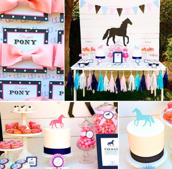 Kara's Party Ideas Pony themed birthday party via Kara's ...