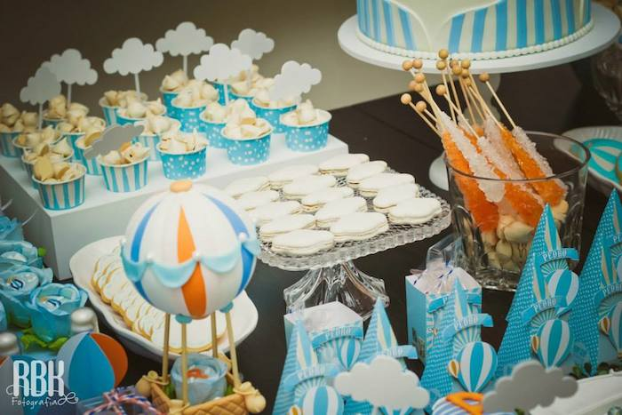 Hot Air Balloon Themed Baby Shower With So Many Darling Ideas Via Karau0027s  Party Ideas |
