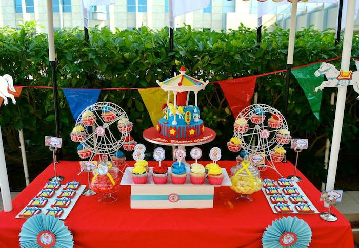 Kara 39 s party ideas carnival themed birthday party via kara s party ideas full of decorating - Carnival theme party for adults ...