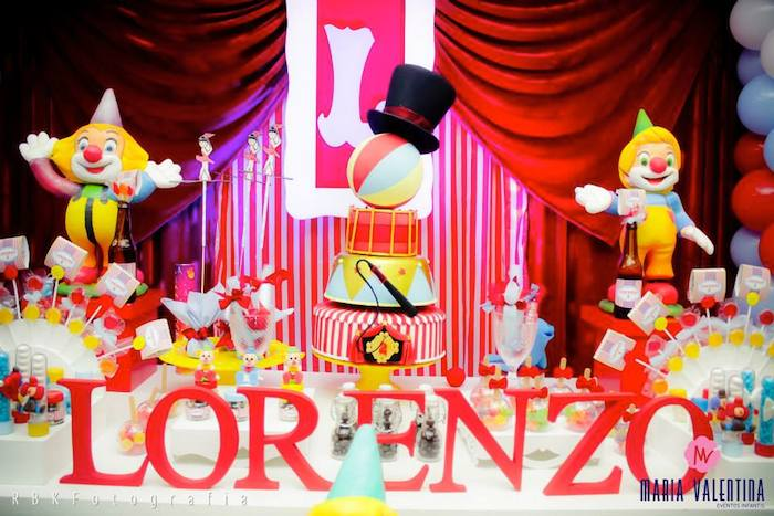 Circus Themed Birthday Party With Such Cute Ideas Via Kara S Full Of Decorating