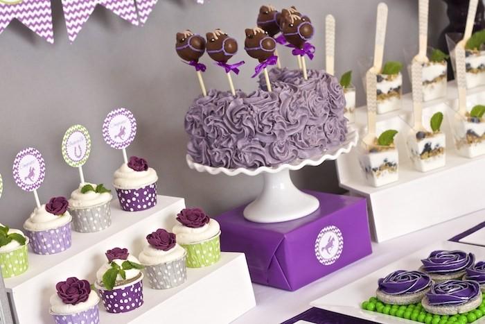 Cupcake Decorating Ideas For Wedding Showers : Kara s Party Ideas Kentucky Derby themed bridal shower via ...