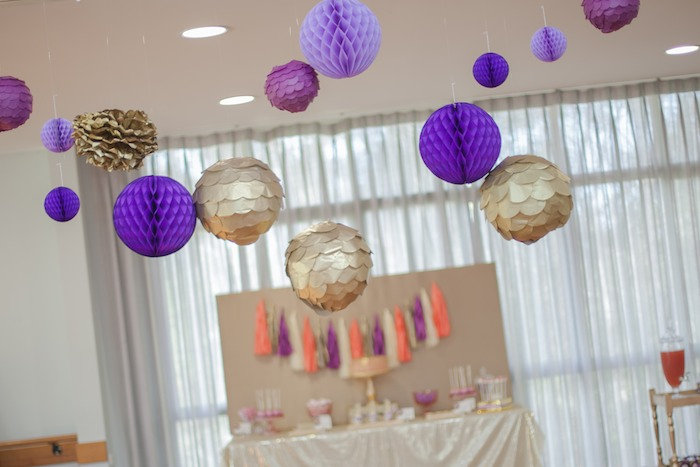 Pink Purple And Gold Disco Themed Birthday Party With Lots Of Cute Ideas Via