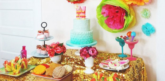 Fancy Fiesta themed birthday party with Lots of Really Fun Ideas via Kara's Party Ideas | Cake, decor, cupcakes, desserts, printables, activities, games, decorating tips, and MORE! KarasPartyIdeas.com #fiesta #mexicanfiesta #latinpartyideas #partydecor #partyplanning #partyideas (1)