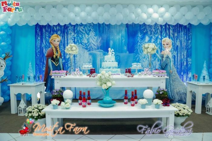 Karas Party Ideas Frozen themed birthday party Full of Fabulous