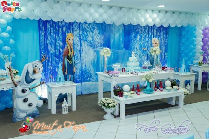 Karas Party Ideas Frozen themed birthday party Full of Fabulous