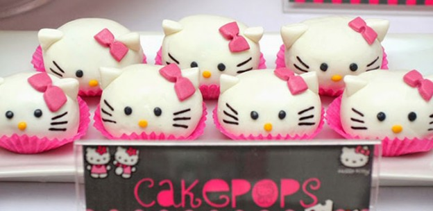Pink and Grey Hello Kitty themed birthday party with Such Cute Ideas via Kara's Party Ideas! Full of decorating tips, cakes, decor, cupcakes, favors, games, and MORE! KarasPartyIdeas.com #hellokitty #hellokittyparty #girlyparty #partyideas #partydecor #partystyling #eventstyling (2)