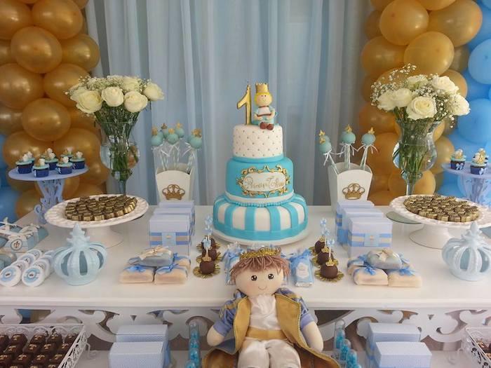 Karas Party Ideas King Prince themed birthday party via Karas