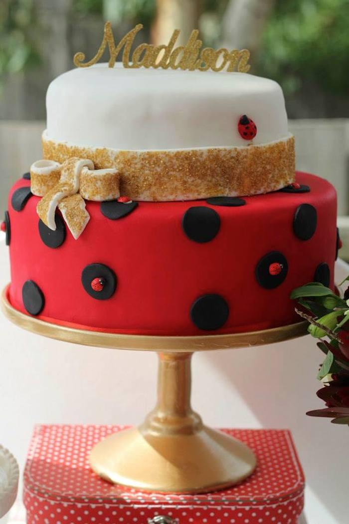Ladybug Cake Decoration Ideas : Kara s Party Ideas Ladybug themed birthday party with Such ...