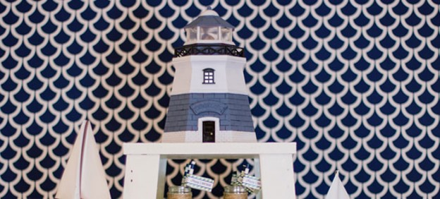 Lighthouse + Nautical themed birthday party with So Many Really Cute Ideas via Kara's Party Ideas | Cake, decor, cupcakes, desserts, printables, and MORE! #lighthouse #lighhouseparty #nauticalparty #partyplanning #partydesign #partystyling (1)