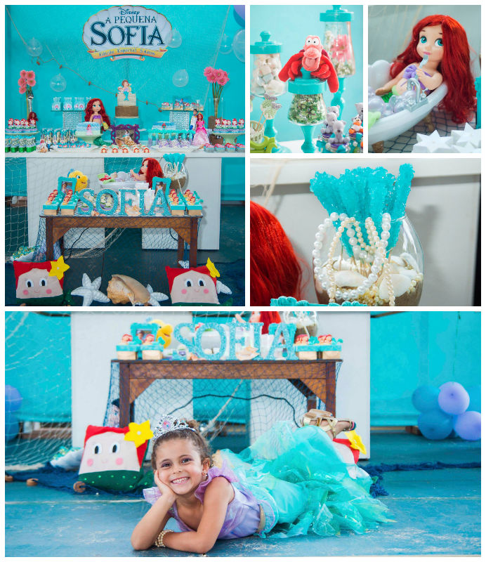 Kara 39 S Party Ideas The Little Mermaid Themed Birthday Party Via Kara 39 S Party Ideas Cake Decor