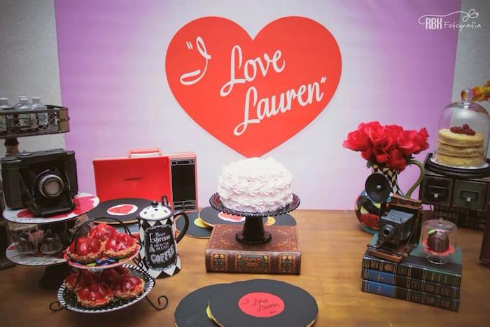 Kara's Party Ideas » I Love Lucy Inspired Birthday Via Rhkaraspartyideas: I Love Lucy Home Decor At Home Improvement Advice