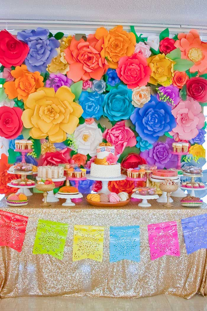 colorful mexican themed baby shower with lots of really fun ideas via