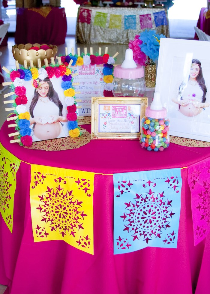 Kara 39 s party ideas colorful mexican themed baby shower for Baby full month decoration ideas