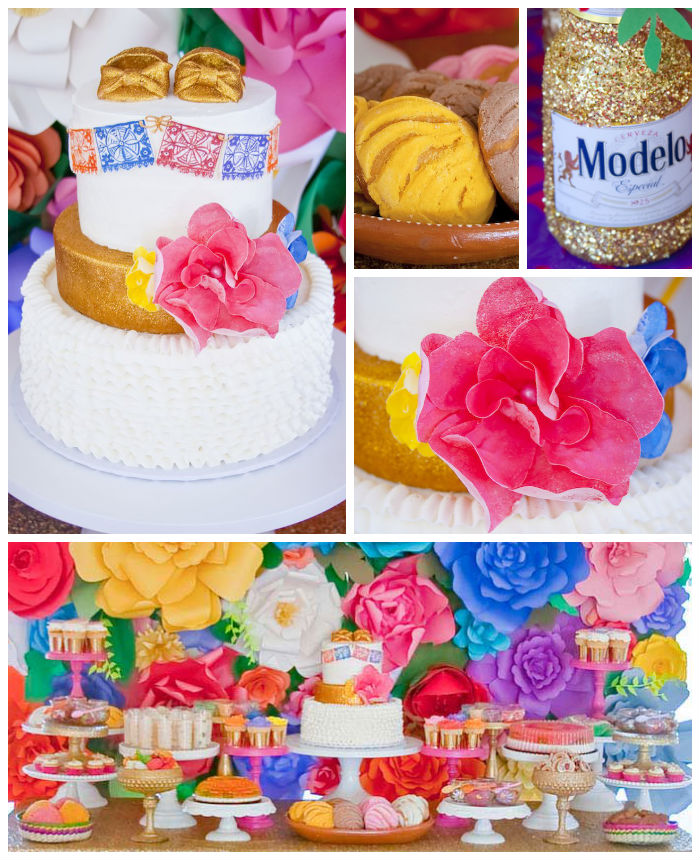 Kara 39 s party ideas colorful mexican themed baby shower via for Baby full month decoration ideas