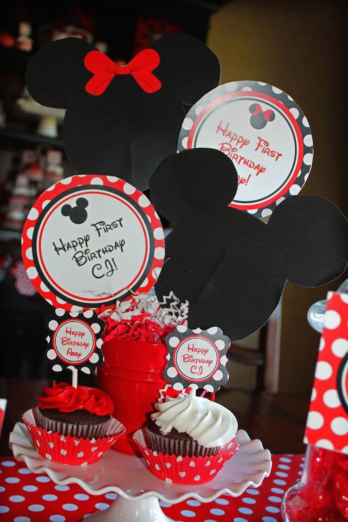 kara's party ideas mickey and minnie mouse themed birthday party, Ideas