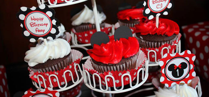 Karas Party Ideas Mickey Minnie Mouse Themed First Birthday