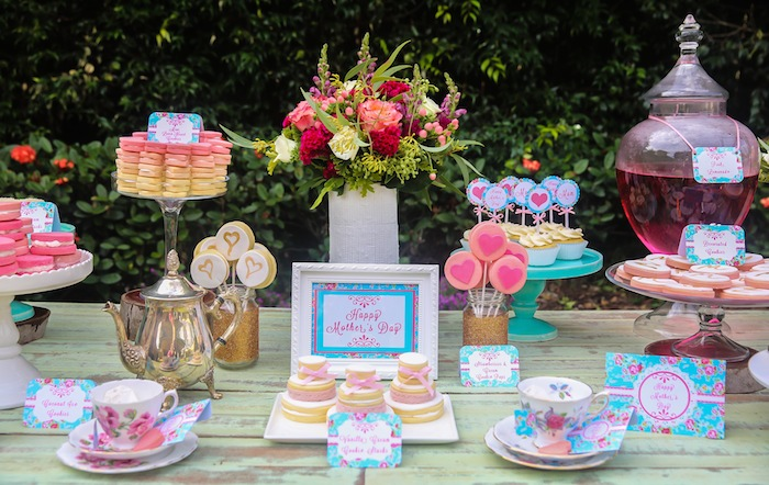 Motheru0027s Day Afternoon Tea Party Dessert Table With Such Gorgeous Ideas Via  Karau0027s Party Ideas!