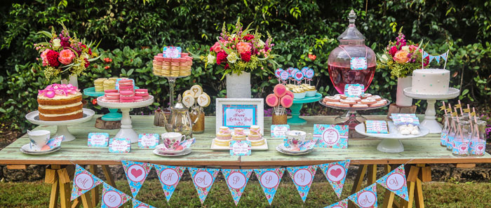 Mothers Day Afternoon Tea Party Dessert Table With Such Gorgeous Ideas Via Karas