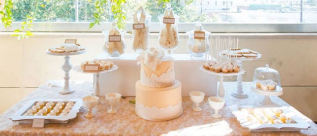 Nude, Beige, and Lace Dessert Table withe Such Gorgeous Ideas via Kara' s Party Ideas! Full of decorating tips, cakes, recipes, favors, printables, games, and so much MORE! KarasPartyIdeas.com #beigedesserttable #elegantdesserttable #desserttableideas #weddingdesserttable #partystyling #eventstyling #partydecor #partyideas #partyplanning (1)