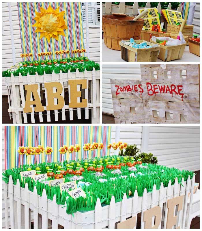Kara 39 s party ideas plants vs zombies themed birthday for Decor vs decoration