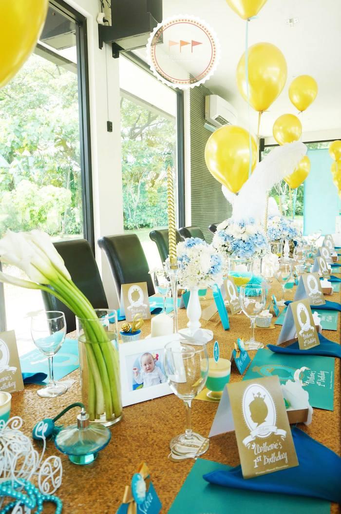 Kara S Party Ideas Royal Prince 1st Birthday Party Via