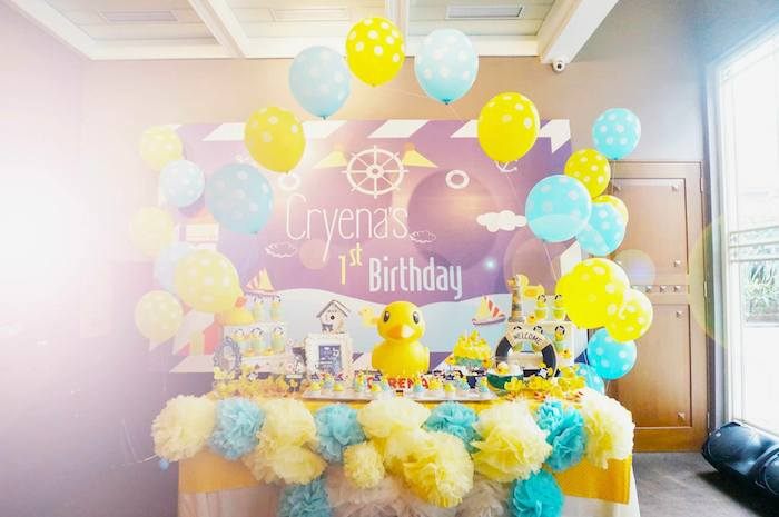 Kara S Party Ideas 187 Rubber Ducky Themed Birthday Party
