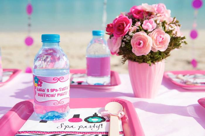 Seaside Spa Birthday Party With Lots Of Really Cute Ideas Via Karas