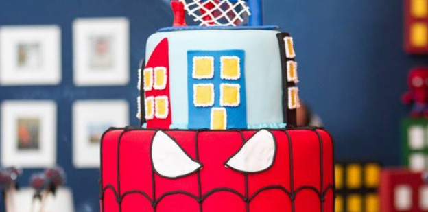 Spiderman themed birthday party with Such Fun Ideas via Kara's Party Ideas | Cake, decor, cupcakes, games and more! KarasPartyIdeas.com #spidermanparty #spiderman #superhero #partydecor #partyplanning #partyideas #partystyling #boyparty #eventstyling (1)