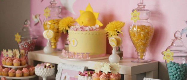 Little Miss Sunshine themed birthday party with Such Cute Ideas via Kara's Party Ideas | Cake, decor, cupcakes, favors, games and MORE! KarasPartyIdeas.com #littlemisssunshineparty #sunshineparty #summerparty #partyplanning #partydecor #partyideas #partystyling (1)