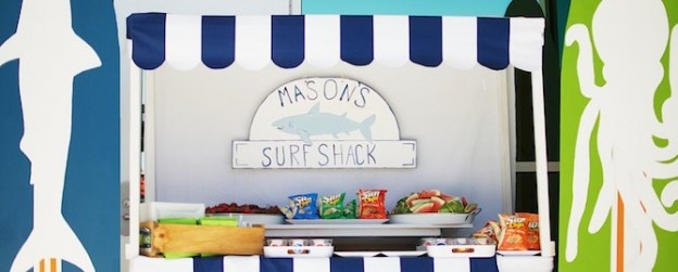 surf shack summer under the sea pool party via Kara's Party Ideas KarasPartyIdeas.com