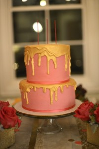 Pink, Gold, and Old 30th birthday party with Lots of Fabulous Ideas via Kara's Party Ideas | Cake, decor, desserts, cupcakes, games, and more! KarasPartyIdeas.com #adultbirthdayparty #30birthday #partydecor #partyideas #partyplanning #pinkandgold #partystyling (21)