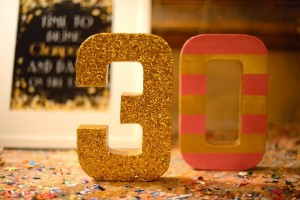 Pink, Gold, and Old 30th birthday party with Lots of Fabulous Ideas via Kara's Party Ideas | Cake, decor, desserts, cupcakes, games, and more! KarasPartyIdeas.com #adultbirthdayparty #30birthday #partydecor #partyideas #partyplanning #pinkandgold #partystyling (30)