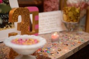 Pink, Gold, and Old 30th birthday party with Lots of Fabulous Ideas via Kara's Party Ideas | Cake, decor, desserts, cupcakes, games, and more! KarasPartyIdeas.com #adultbirthdayparty #30birthday #partydecor #partyideas #partyplanning #pinkandgold #partystyling (8)