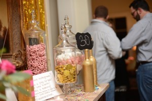 Pink, Gold, and Old 30th birthday party with Lots of Fabulous Ideas via Kara's Party Ideas | Cake, decor, desserts, cupcakes, games, and more! KarasPartyIdeas.com #adultbirthdayparty #30birthday #partydecor #partyideas #partyplanning #pinkandgold #partystyling (6)