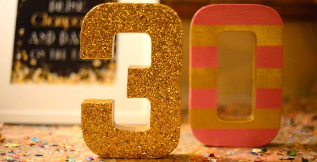 Pink, Gold, and Old 30th birthday party with Lots of Fabulous Ideas via Kara's Party Ideas | Cake, decor, desserts, cupcakes, games, and more! KarasPartyIdeas.com #adultbirthdayparty #30birthday #partydecor #partyideas #partyplanning #pinkandgold #partystyling (2)