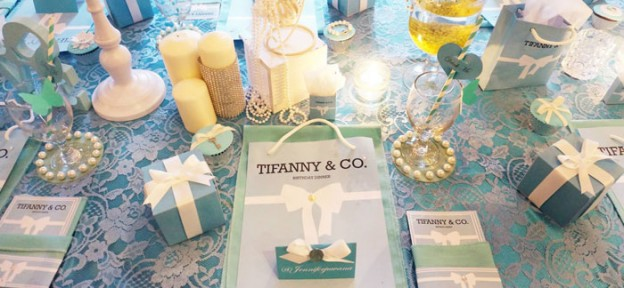 Tiffany & Co. themed birthday party with So Many GORGEOUS IDEAS via Kara' s Party Ideas | Cake, cupcakes, favors, printables, games, and MORE! KarasPartyIdeas.com #tiffanyandcoparty #tiffanys #partydecor #partyplanning #partystyling (1)