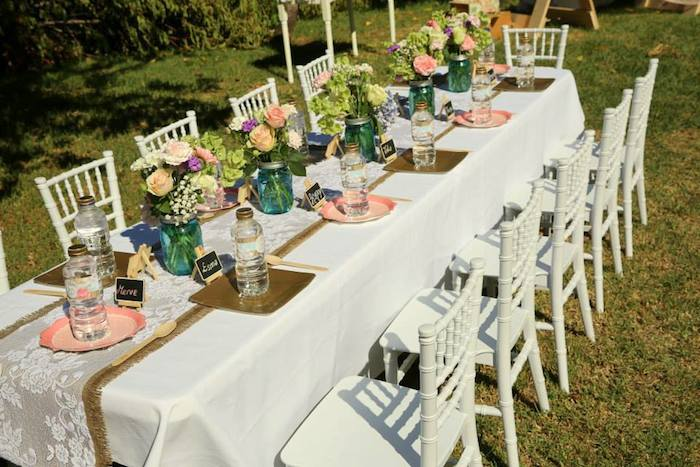 Rustic Garden Party Decorations Designs